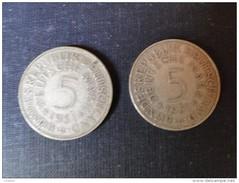 Allemagne : 2  Pièces De 5 Deutshe Mark  De 1951 - Non Classés