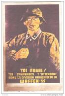 PROPAGANDE - ENTIER - WAFFEN  - ALSACE - DIVISION FRANCAISE - - Guerre 1939-45