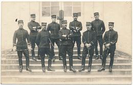 Carte Photo Militaire -  Photo De Groupe - Officiers à Identifier, Cavalerie - 2 Scans - Regiments