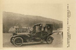 CARTE PROPAGANDE FRANÇAISE - GUERRE 14-18 - ALSACE - VALLÉE DE LA FECHT - AUTOMOBILE TOUCHÉE PAR UN OBUS - Oorlog 1914-18