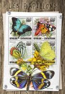 CENTRALAFRICA 2016 ** Butterflies Schmetterlinge Papillons M/S - OFFICIAL ISSUE - A1649 - Schmetterlinge