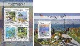 MOZAMBIQUE 2016 ** Claude Monet Paintings Gemälde Peintures M/S+S/S - IMPERFORATED - A1649 - Sonstige
