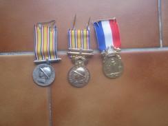 3 Medailles De Pompier - Feuerwehr