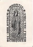 Bibliotheca Abbatis  Sancta Fidei  Conques  Gravure Bois De A Herry Nancy - Ex Libris