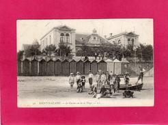 44 LOIRE ATLANTIQUE, ST-NAZAIRE, Le Casino Vu De La Plage, Animée, Cabines,barque, (L. L.) - Saint Nazaire