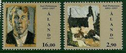 Aland  1992 100th Birthday Joel Pettersson  Mi 61-62 MNH(**) - Aland