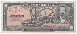 Cuba, 10 Pesos 1960. Presidente Del Banco, Che. - Kuba