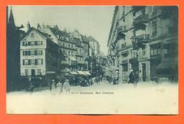 "CPA Lausanne "" Rue Centrale "" Carte Precurseur - LJCP 17 - VD Vaud"