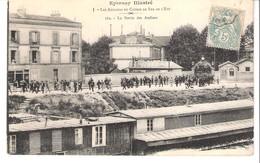 Epernay (Marne)-1906-Les Ateliers Du Chemin De Fer De L'Est-La Sortie D'Usine-animée-Maison F.Morot-exp. Vers Bar-le-Duc - Epernay