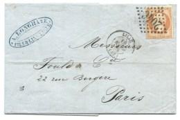 S N° 23 ORANGE NAPOLEON LILLE NORD POUR PARIS 1863 - 1849-1876: Klassieke Periode