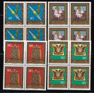 Liechtenstein 1977, Michel# 673 - 676 ** Im Viererblock - Unused Stamps