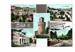CPM - ITALIE, Saluti Da Castrocaro Terme - Multivues - Panorama Piazza Tour - Non Classificati