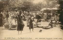 Ref G797-afrique -togo -lome -le Marche De La Gare  - Carte Bon Etat   - - Togo
