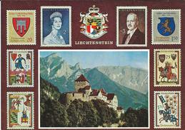 Liechtenstein.stamps Postcard - Liechtenstein