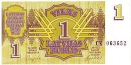 LATVIA 1 RUBLIS 1992 P-35 UNC  [LV216a] - Latvia