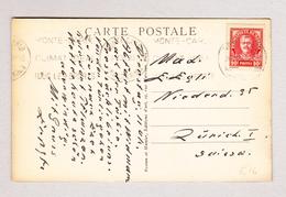 Monaco MONTE-CARLO 26.2.1935 Ansichtskarte (Motiv Bd Midi Et Bd Princesse Charlotte) Nach Zürich - Monaco