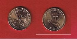 USA  --  1 Dollar 2007  -- Jefferson --  état  SPL - Émissions Fédérales