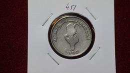 Tunisia 1/2 Dinar 1990 Km#318 - Túnez