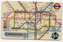 ROYAUME UNI Télécarte MERCURY MER037 1MDCC LRT Underground Map - Royaume-Uni