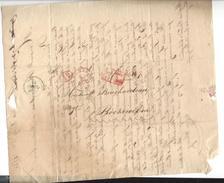 Lettre Bruxelles Brussels 9 Octobre 1830 Pour Rochecorbon France Texte Intéressant Sur évènements - 1815-1830 (Holländische Periode)