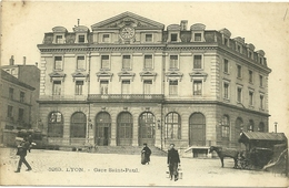 69 Lyon Cpa Gare Saint Paul Attelage Cheval Taxi - Andere