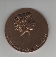 Médaille - Bronze -50 Ans Au Service De La Nation (ordonnance Du 9 Otobre 1945) - France