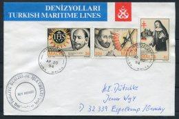 1994 Malta Turkey Ship M/V AKDBNIZ Cover - Malta
