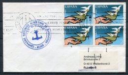 Spain Alicante C/F EL-DJAZAIR Alger Ship Cover - 1931-Today: 2nd Rep - ... Juan Carlos I
