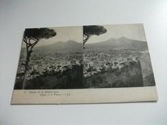 NAPOLI E IL VESUVIO AUTOUR DE LA MEDITERRANEE NAPLES   PICCOLO FORMATO - Cartoline Stereoscopiche