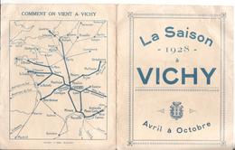 03 Vichy La Saison 1928 - Dépliants Touristiques
