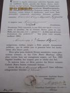 DEUTSCHLAND - Reipublicae Hamburgensis - 1837 Bill Of Health For Ship To Travel To MONTEVIDEO And BUENOS AIRES - Documentos Históricos