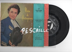 DISCO DE VINILO 45 T - NIÑA DE ANTEQUERA - MARIA ROSA DE LEON - COLUMBIA 1958 - Discos De Vinilo