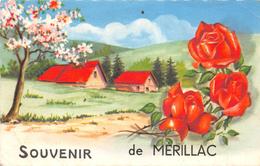 ¤¤   -  MERILLAC   -  Souvenir De ......   -  Fleurs , Roses   -  ¤¤ - Altri Comuni