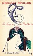 Image Pub  Chocolat  REVILLON  --  La Leçon De Broderie - Initiale Brodée - Revillon