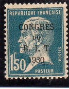 """FRANCE 1930 - Congrès Du """"BIT"""" à Paris: 1,50F Bleu -  N° 265** - France"""