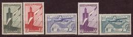 MAROC - 1939 - YT N° PA 43 / 45 + 48 / 49 - * - 5 Valeurs - - Posta Aerea