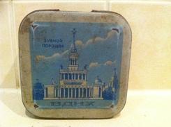 Soviet Union Period Vintage Box Toothpaste - Powder - Scatole