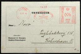 Denmark Cover  Printed Matter  Hammel & Omegns Andels-Svinslegteri  With Franco Hammel 5-9-1948 ( Lot 5826 ) - Danemark