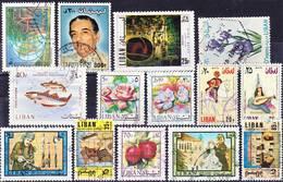 2016-0907 Lot Libanon With Several 1978 Overprint Definitives Used O - Libanon