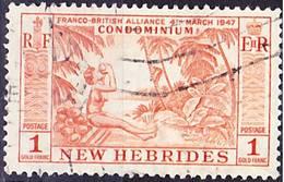 2016-0911 Nouvelles Hébrides 1957 Yvert 194 Oblitéré O - Used Stamps