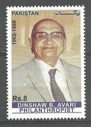 PAKISTAN 2016 STAMP  DINSHAW BYRAMJI AVARI PHILANTHROPIST  MNH - Pakistan