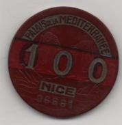 JETON - 100 - PALAIS DE LA MEDITERRANEE - NICE - 06661 - CASINO - BORDEAUX - Casino