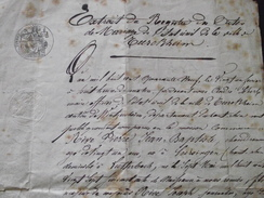 TURCKHEIM (Haut-Rhin) - EXTRAIT D'ACTE De MARIAGE - 21 Février 1849 ! - Domicile LUTTERBACH - A Voir ! - Documents Historiques