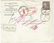6Rm969: 10,-F  GENT H1H 20-2-63  < GENT M1M -8-6-63 Via GENT A9A 21-2-63 & GENT A9A -8-3-63  Niet Afgehaald -terug Aan A - 1936-1951 Poortman
