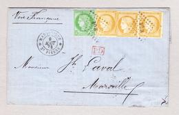 F ST PIERRE MARTINIQUE 9.8.1878 Brief O Inhalt Nach Marseille Mit 5c Und 15c (3)