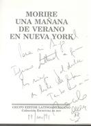 MARCELO ZAMBONI - MORIRE UNA MAÑANA DE VERANO EN NUEVA YORK GRUPO EDITOR LATINOAMERICANO  PRIMERA EDICION AÑO 1991 143 P - Cultura