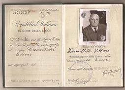 ITALIA - 1954 PASSPORT - PASSEPORT  Multiples VISAS Including USA And REVENUE STAMPS From ITALIA - BRAZIL- ARGENTINA - Documentos Históricos