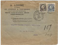 6Rm970: EXPRES / SPOEDBESTELLING 11 VII 1923 > Paris...omslag Iets Beschadigd.. - 1921-1925 Petit Montenez