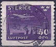 Sweden 1930 - Plane Of Night Mail ( Mi 214 - YT Pa 5 )