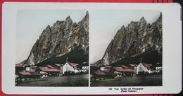 Stereofoto: Italien Cortina D'Ampezzo (BL) - Cortina Mit Pomagognon (Punta Fiammes) - Stereo-Photographie